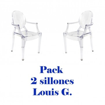 Pack 2 sillas Louis Ghost Transparentes