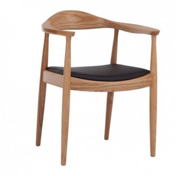 "Silla nórdica estilo PP503 - ""The Chair"" Negro/Madera"