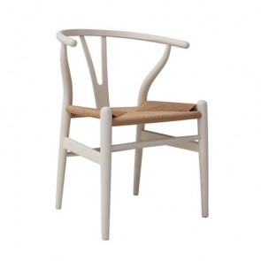 Silla CH24 Wishbone Blanco/natural