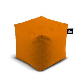 Pouf Mighty cubo naranja