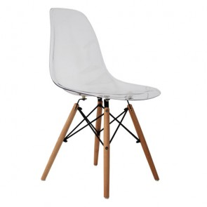 Silla Tower Wood Transparente