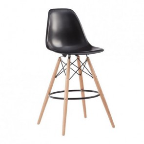 Taburete Tower wood eiffel Negro
